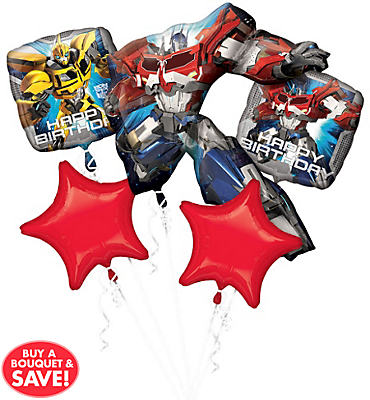 Transformers Balloon Bouquet 5pc - Optimus Prime