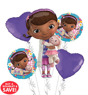 Doc McStuffins Balloon Bouquet 5pc - Hearts