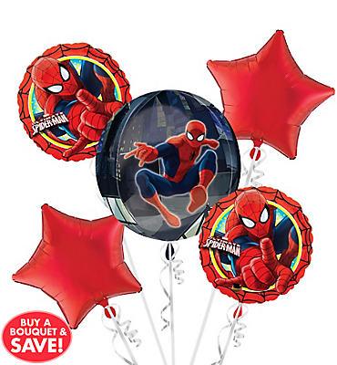 Spider-Man Balloon Bouquet 5pc - Orbz