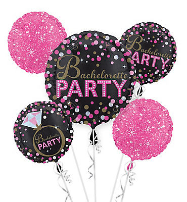 Bachelorette Party Balloon Bouquet 5pc - Sassy Bride