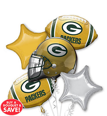 Green Bay Packers Balloon Bouquet 5pc