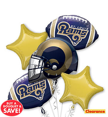 St. Louis Rams Balloon Bouquet 5pc