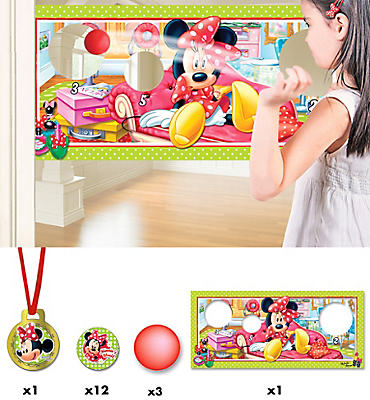 Minnie's Target Ball Party Game 17pc