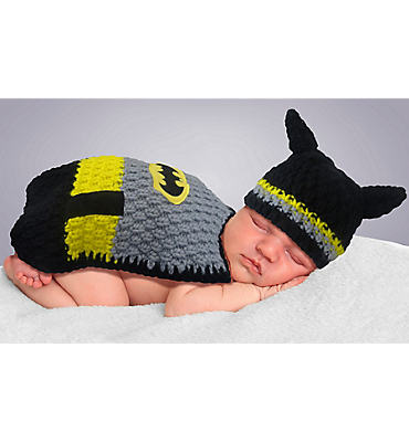 Baby Crochet Diaper Cover Batman Costume