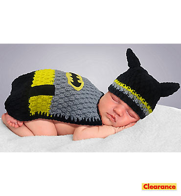 Baby Crochet Diaper Cover Batman Costume