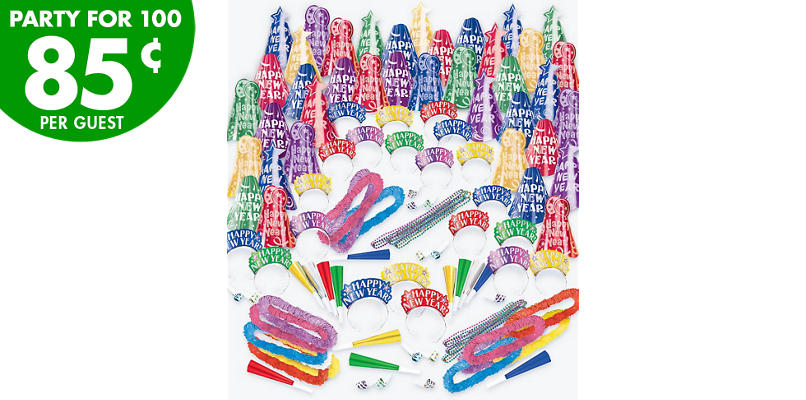 Kit For 100 - Fantasy - Colorful New Year's Party Kit