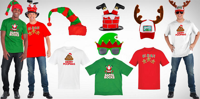 Men's Christmas Hats & Tees