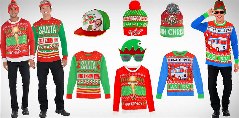 Men's Ugly Christmas Sweaters & Accessories
