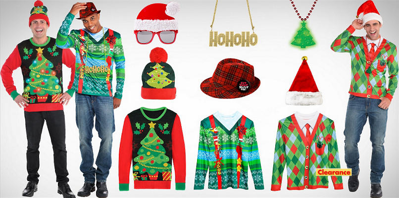 Men's Ugly Christmas Shirts & Accessories