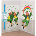 St. Patricks Day Leaping Leprechauns Scene Setters 65in 2ct