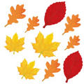 Autumn Leaves Assorted Mini Glitter Cutouts 10ct