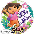 Feliz Cumpleanos Dora the Explorer Balloon - Singing