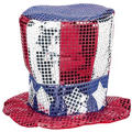 Sequin Fabric Uncle Sam Hat