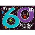 The Party Continues 60th Birthday Invitations 8ct