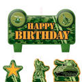 Camouflage Birthday Candles 4ct