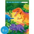 Prehistoric Dinosaurs Favor Bags 8ct