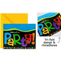 Punchy Birthday Invitations 8ct