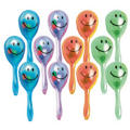 Smiley Face Maracas 12ct