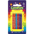 Neon Star Birthday Candles 3in 12ct
