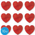Glitter Heart Cutouts 10ct