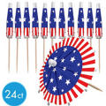 Patriotic Parasol Picks 24ct