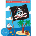 Pirate Party Favor Bags 8ct