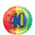 40th Birthday Balloon - A Year to Celebrate