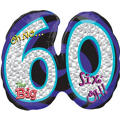 Foil Oh No the Big 60 Number Balloon 27in