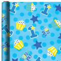 1st Birthday Boy Gift Wrap 5ft
