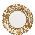 Gold Ornamental Scroll Lunch Plates 8ct