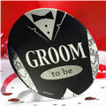 Groom Jumbo Button