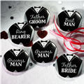 Groom Bridal Party Buttons 8ct