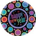 Modern New Years Dessert Plates 8ct