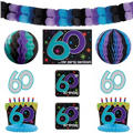 The Party Continues 60th Birthday Decorating Kit 9pc