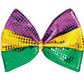 Sequined Mardi Gras Bow Tie