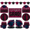 Berry Graduation Decorating Kit 10pc