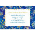 Shimmery Snowflakes Custom Invitation