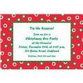 Retro Holiday Dots Custom Christmas Invitation