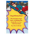 Flying Superhero Custom Invitation