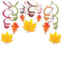 Fall Hanging Swirl Decorations 30ct