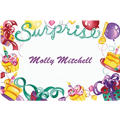 Surprise with Gifts and Cakes Custom Thank You Note