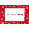 Red & White Snowflakes Custom Christmas Thank You Note