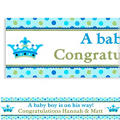 New Little Prince Custom Baby Shower Banner