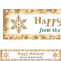 Elegant Gold Custom Christmas Banner