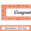 Orange Ornamental Scroll Custom Banner 6ft