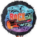 Pull String Rock Guitar Pinata 16in