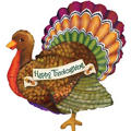 Foil Thanksgiving Turkey Balloon 33in