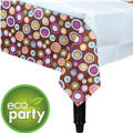 Cocoa Dots Paper Table Cover 54in x 102in