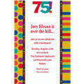 Birthday Dots & Stripes 75 Custom Invitation