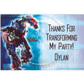 Transformers Custom Thank You Note